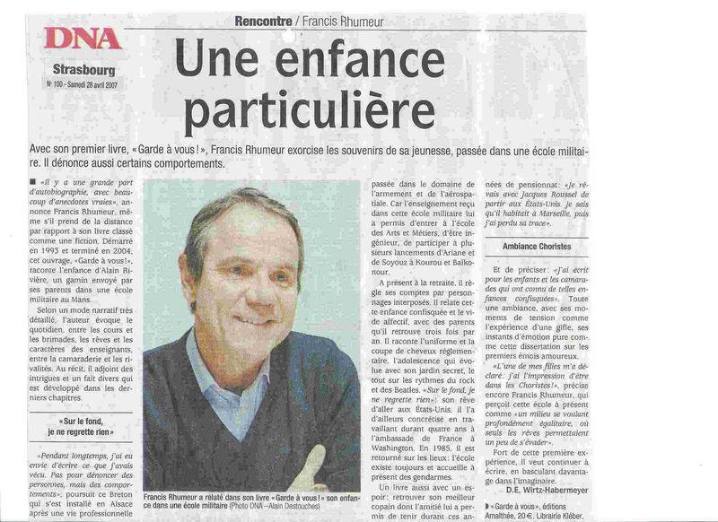 ARTICLE - Dernières Nouvelles d'Alsace... Garde à vous !