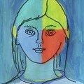 Agathe Autoportrait enfant