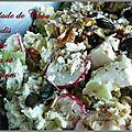 Salade de chou blanc et radis