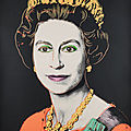 Andy Warhol's take on the <b>Queen</b>, from the Reigning <b>Queens</b> series, for sale at Bonhams