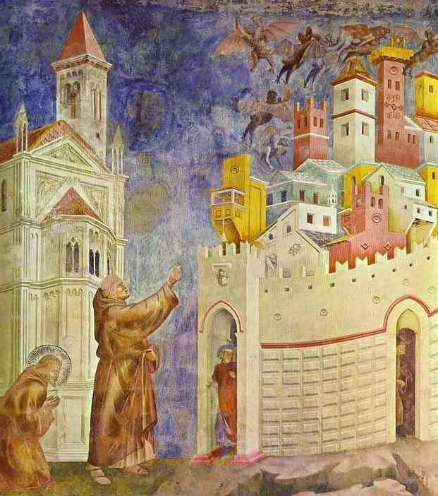 saint François chasse les démons d'Arezzo