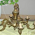 cottage et patine broc & chine lustre bronze II