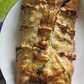 Les feuilletés salés ~ feuilleté au saumon et aux épinards