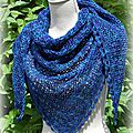 Barjolaine en Heritage Silk Paints de Cascades Yarn