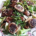 Salade boudins blancs-châtaignes