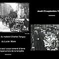 La <b>tempête</b> de 1930 : Les obsèques du matelot Charles Tanguy