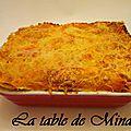 Lasagnes potiron, courgette et poulet