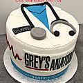 gâteau <b>Grey</b>'<b>s</b> <b>Anatomy</b>
