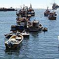 los barcos de pesca san Antonio