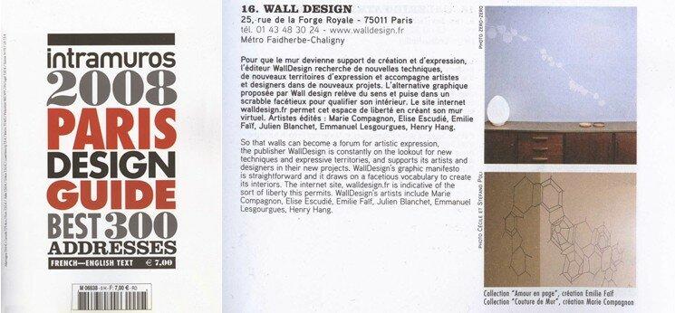 Guide du design intramuros 2008
