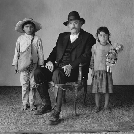 Gregory Peck with Two Young Extras Old Gringo Mexico City Mexico 1988