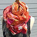 Très longs foulards en pure soie style vintage - modèle unique - nina ricci, jacquemar....