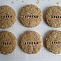 Biscuits diététiques complets 100% avoine (sans sucre ni beurre ni oeufs)