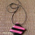 Collier Stripes rose - 12€