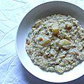 Recette du risotto aux poires et au gorgonzola