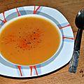 Soupe de butternut à l'orange