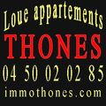 Immobilier THONES;loue appartements studio T1/T2/T3 garage...