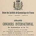 Concours International de Gymnastique & de Tir du 13 au 15 août 1910 à <b>Belfort</b>, les préparatifs (1ère partie)