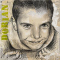 Portrait en techniques mixtes sur châssis entoilé 40 x 40 cm, tableau photographié , 2011
