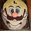 Gâteau luigi pour les 6 ans de mon loulou