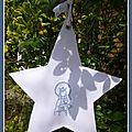 Veilleuse étoile Vierge couronnée à l'enfant bleue