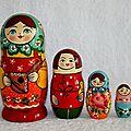 Ma jolie famille de poupées Russes