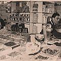 La France d'<b>autrefois</b>. Photo épicerie-charcutérie 1949