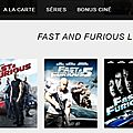 PlayVOD, la saga Fast and Furious à voir en streaming