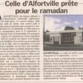 Mosquée d' alfortville : un article dans le parisien