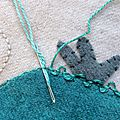 Le point de mirliton ou threaded backstitch