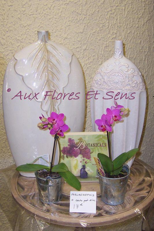 Vases mariage et phalaenopsis