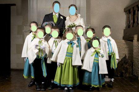 Cortège Dounette: turquoise et vert