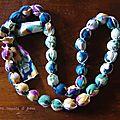 le collier romantique en perles de tissu