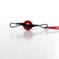 pendentif wire noir perle rouge profil