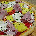 Pizza jambon ananas des tropiques