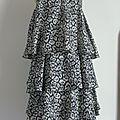2480/ Robe en soie noir & blanc imprimée panthère DAY - Birger et Mikkelsen en Taille 36 38