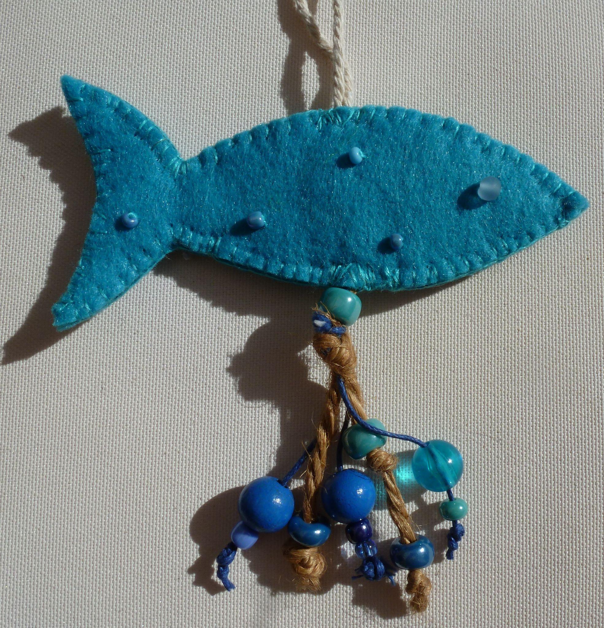 Porte clefs poisson Turquoise