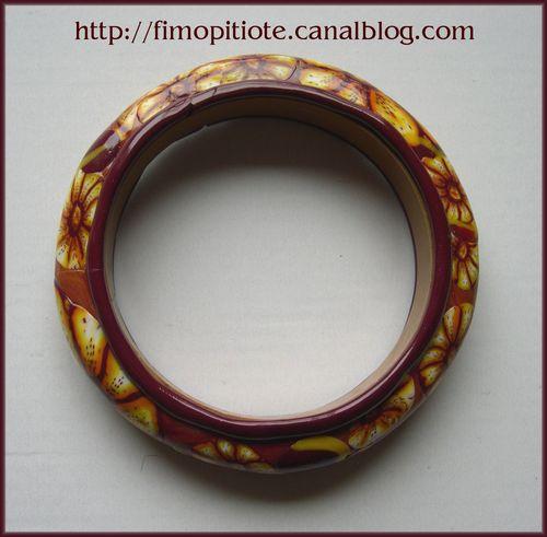 bracelet rigide gazania