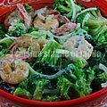 Salade de brocoli et crevettes