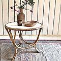 <b>Table</b> en rotin vintage