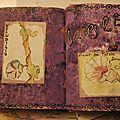 Challenge artjournal et gribouillages # 23 : violet