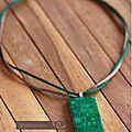 Collier pendentif Vert BW