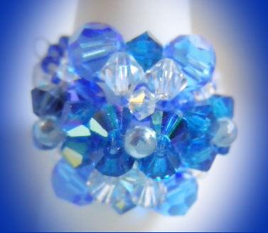 Bague bleuette