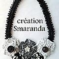 Création du jour: collier textile & lacet roumain