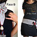 Pièce Unique Ceinture/ Cravate réversible rouge