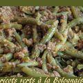 Haricots verts à la Bolognaise