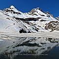 Lac d'estaens sous la glace