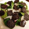 Salade de coquille saint-jacques à la truffe