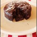 Coulant au chocolat et à la chicorée(sans beurre, sans farine et sans sucre ajouté)