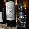 Saint Emilion : Château Laroque 2014, Morgon : <b>Jean</b>-<b>Marc</b> <b>Burgaud</b> : Côte de Py cuvée James 2011